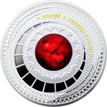 Stříbrná mince Láska - The World of your Soul 2015 Proof