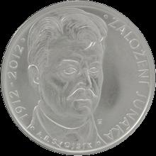 Strieborná minca 200 Kč Založenie Junáka 100. výročie 2012 Štandard