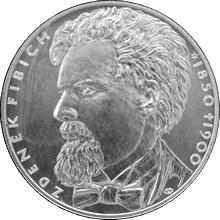 Strieborná minca 200 Kč Zdeňek Fibich 150. výr. narodenia a 100. výr. úmrtia 2000 Štandard