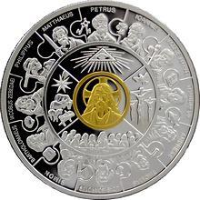 Stříbrná mince pozlacená 12 apoštolů 2008 Proof