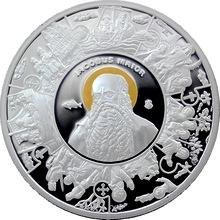 Stříbrná mince pozlacená Apoštol Jakub 2014 Proof