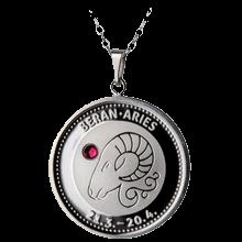 Stříbrný medailonek znamení zvěrokruhu Beran Proof