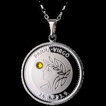 Stříbrný medailonek znamení zvěrokruhu Panna Proof