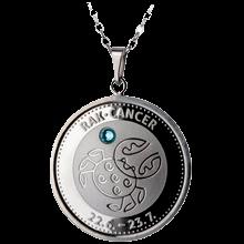 Stříbrný medailonek znamení zvěrokruhu Rak Proof