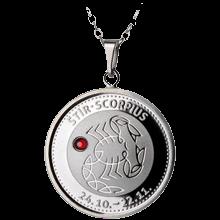 Stříbrný medailonek znamení zvěrokruhu Štír Proof