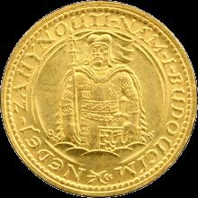 Zlatá minca Svätý Václav Jednodukát Československý 1923