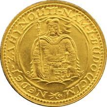 Zlatá minca Svätý Václav Jednodukát Československý 1924