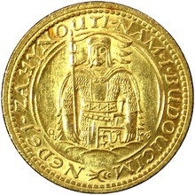 Zlatá minca Svätý Václav Jednodukát Československý 1935