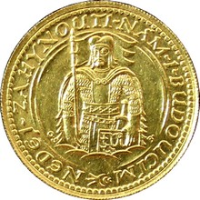 Zlatá minca Svätý Václav Dvojdukát Československý 1933