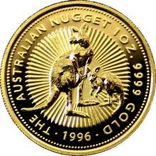 Zlatá investiční mince The Australian Nugget 1996 1 Oz