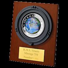 Stříbrná mince Titanic 5 Oz 100. výročí 2012 Perleť Proof