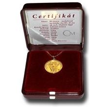 Zlatý medailonek Tři Grácie na řetízku 2007 Proof