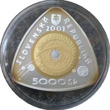 Trimetalová mince 5000 SK k začátku třetího tisíciletí