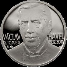 Stříbrná medaile Václav Havel 2012 Kolorovaná Proof