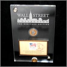 Zlatá mince a známka Wall Street Heritage Edition Wilhelm II. Preussen 2014