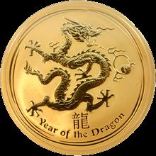 Zlatá investiční mince Year of the Dragon Rok Draka Lunární 10 Oz 2012