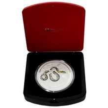 Stříbrná mince 1 Kg Year of the Snake Rok Hada Lunární 2013 Černý Diamant