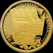 Zlatá minca 2000 Kč Zámok v Litomyšli Renesancia 2002 Proof