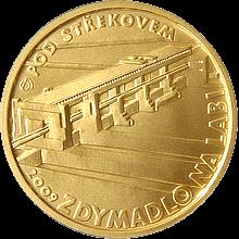 Zlatá minca 2500 Kč Zdymadlo na Labi pod Střekovem 2009 Štandard