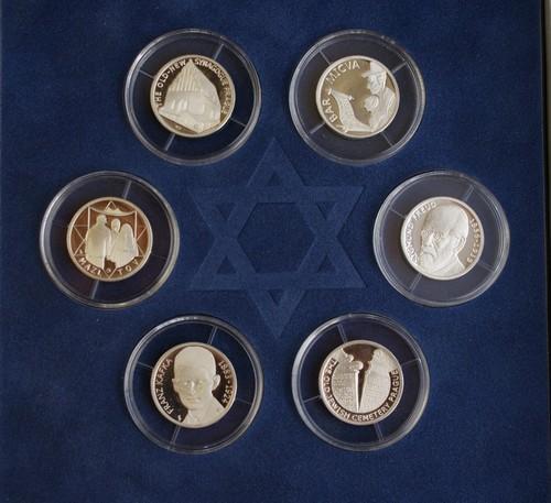 Židovská kultura v Česku - sada 6 stříbrných medailí