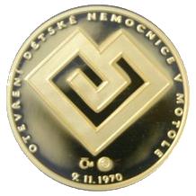 Dětská nemocnice Motol zlatá medaile 2010 1/4 Oz Proof