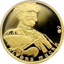Zlatá čtvrtuncová medaile Alfons Mucha 2005 Proof