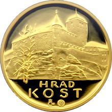Zlatá čtvrtuncová medaile Hrad Kost 2013 Proof