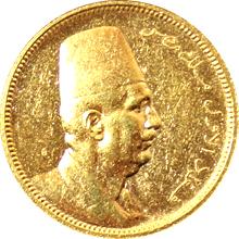 Zlatá mince 100 Piastr Fuad I. 1922