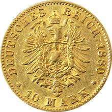 Zlatá mince 10 Marka 1880