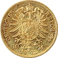 Zlatá mince 10 Marka Fridrich I. Bádenský 1873