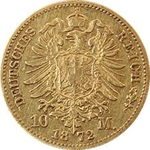 Zlatá mince 10 Marka Jan I. Saský 1872
