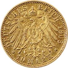 Zlatá mince 10 Marka Vilém II. Württemberský 1905