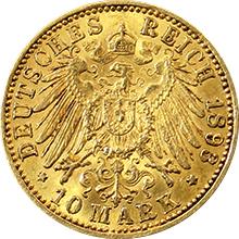 Zlatá mince 10 Marka Vilém II. Pruský 1893