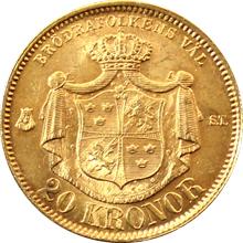 Zlatá mince 20 Koruna Oskar II. 1874