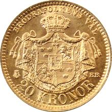 Zlatá mince 20 Koruna Oskar II. 1889