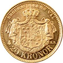 Zlatá mince 20 Koruna Oskar II. 1898