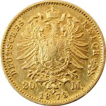 Zlatá mince 20 Marka Fridrich I. Bádenský 1873