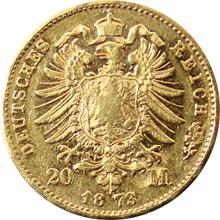 Zlatá mince 20 Marka Ludvík II. Bavorský 1873