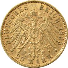 Zlatá mince 20 Marka Ota I. Bavorský 1895