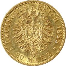 Zlatá mince 20 Marka Vilém II. Pruský 1888