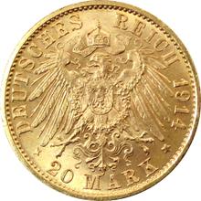 Zlatá mince 20 Marka Vilém II. Pruský 1914