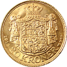 Zlatá mince 20 Koruna Kristián X. 1913