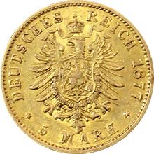 Zlatá mince 5 Marka 1877