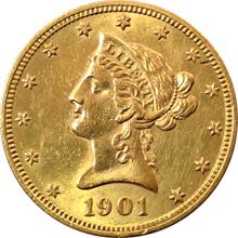 Zlatá mince 10 Dolar American Eagle Liberty Head 1901