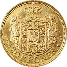 Zlatá mince 20 Koruna Frederik VIII. 1909