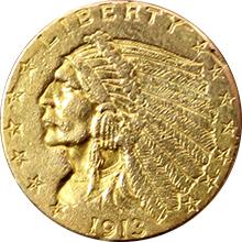 Zlatá mince Indian Head American Quarter Eagle 1913