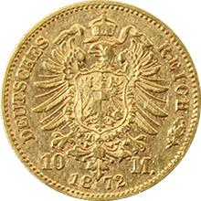 Zlatá mince 10 Marka Ludvík II. Bavorský 1872