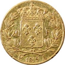 Zlatá mince 20 Frank Ludvík XVIII. 1819