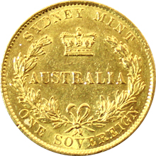 Zlatý Sovereign Australia Královna Viktorie 1866
