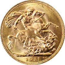 Zlatý Sovereign Král Jiří V. 1911 C